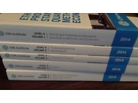 CFA Level 2 Institute books (new condition, 2014 version)