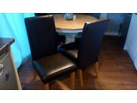 Brown Leather Look Dinning Chairs