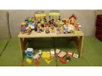 ELC Happyland figures and some dolls house furniture