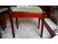 PIANO STOOL with Music Compartment