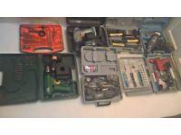 joblot tools clarke black and decker etc