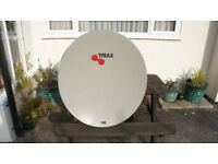 110cm Triax satellite dish and heavy duty wall braket almost brand new.