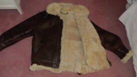 Sheepskin Leather Flying Jacket
