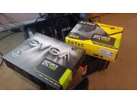 2x NVIDIA Graphics cards GTX 1060 6GB: (Zotac 1060 6GB AMP! Edition, EVGA 1060 GAMING 6GB)