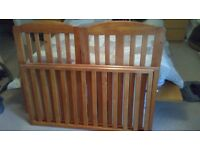 Drop side cot ( antique pine colour)