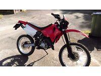 Aprilia RX50 Motorcycle, 6 Speed, Enduro, New MOT, 50cc, Moped
