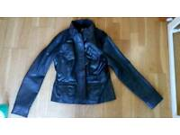 Leather jacket , 12, women's, waist length