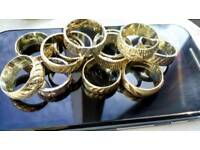 Solid silver rings, joblot, New old stock,