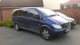 Mercedes-benz vito, cd 111 long, 9 seater, minibus, low millage
