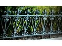 For sale Pvc garden fence approx 50 feet