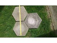 Patio garden slabs