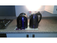 Morphy richards purple and chrome kettle and toaster