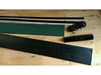 Black wood grain effect fascia, soffit and accessories