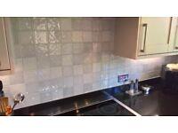 Brand New Gloss Kitchen or Bathroom Tiles - Grey