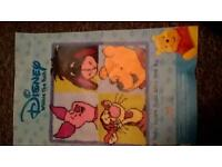 Disney Winnie the Pooh rug partially started cost over £60 new £30 Ono