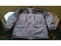 Hardcore Winter Work Jacket Coat Waterproof Medium Grey and Black Weatherproof Workwear