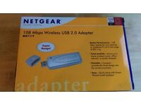 Netgear WG111T 108 Mbps 802.11G Wireless USB 2.0 Internet Adapter For PC Boxed