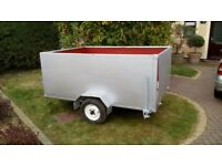 Car trailer 7 x 5 foot drop down rear door