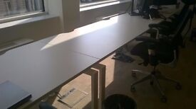 20 Desks with cable trays £100 each