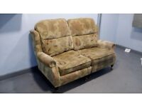 Modern 2 Seater Sofa on Legs + Brass Castors– Excellent Clean Condition + From Pet / Smoke Free Home