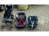 7 seater sofa, dining table, pushchair, car seats