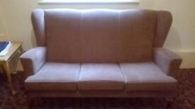 Settee with 2 matching chairs