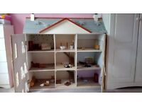 Large Dolls House & Furniture/People