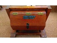 UNUSUAL QUIRKY BALLOT / VOTING / TOMBOLA SPINNING WOODEN BOX