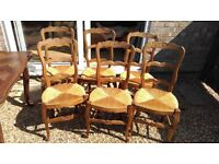 Antique Wooden Dining Table and 6 Chairs