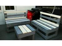 Handmade pallet bench sets