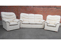 G Plan 3 seatr sofa and 2 armchairs in very good condition