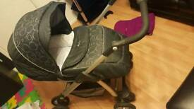 Silvercross linear freeway , travel system with car seat