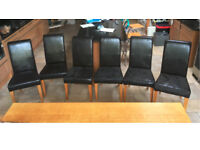 6 Top Quality dining chairs for sale.