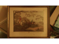 Fox Hunting 2nd La chasse au renard Aquatint (open to offers)