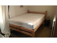 Pine double bed frame - need rid of it ASAP