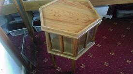 Small decorative hectagonal table