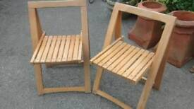 PAIR OF FOLDAWAY 1970 CHAIRS