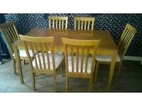 Table & 6 chairs in excellent condition, can deliver if required..