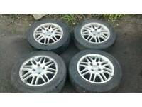 FORD FOCUS MK1 4 STUD ALLOYS WITH GOOD LEGAL TYRES