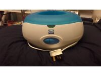 Paraffin wax heater with peppermint wax