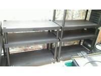 Heavy duty plastic shelving
