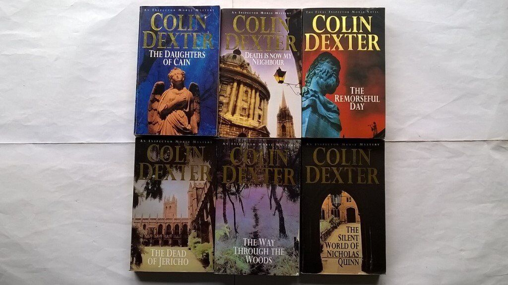 6 Colin Dexter Inspector Morse Novels The Remorseful Day, The Daughters Of Cain, The dead of Jericho