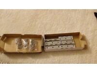 63mm polished chrome hinges x 6