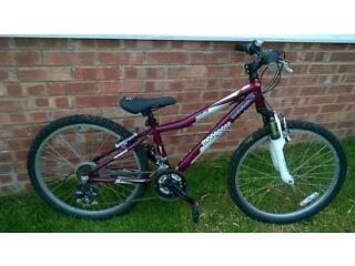 For sale £40 - Children's Purple Mongoose (Rockadile) Bike - 29 inch frame - Good Condition