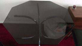 Smoke glass octagonal dinning table