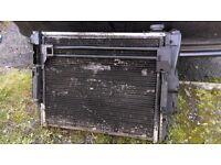 Radiator + fun bmw e46 1.6-1.8
