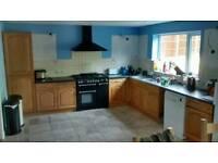 Kitchen units - oak style doors and panels