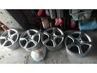 4x108 alloy wheels, fit Peugeot and Citroen