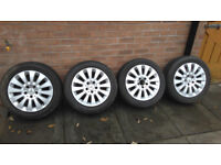 16 INCH MERCEDES ALLOY WHEELS WITH TYRES 205/55/16