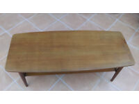 "Teak Coffee Table Vintage Retro 1960's 1970's ""Windsor"" / ""Danish"" style"